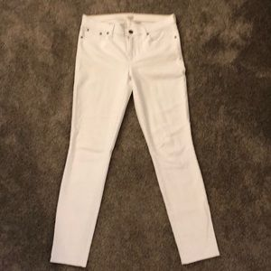 White jeans from J crew